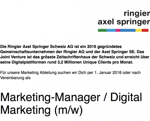 Digital Manager Job